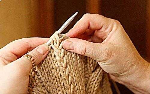 Как сделать вязание двойным