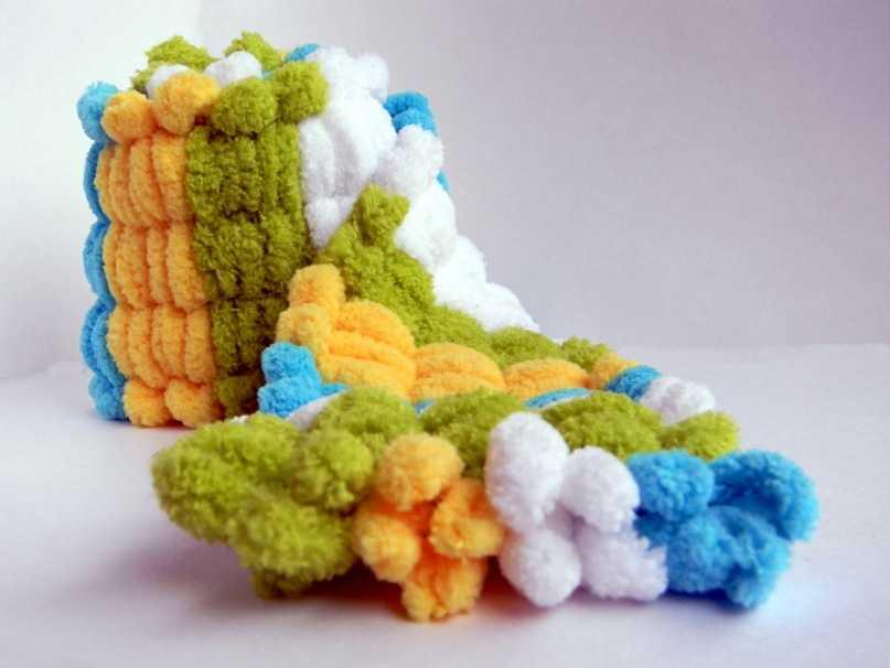 Вязание круглых ковриков крючком фото