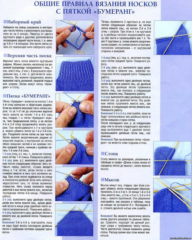 Вязание спицами пятки носков. Различные способы и правильное 65