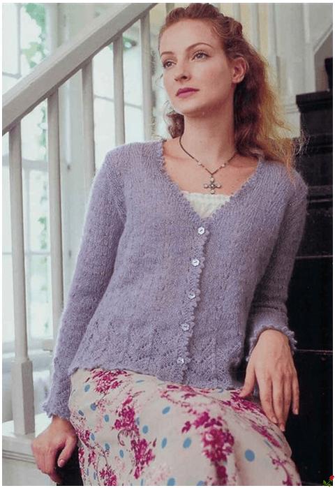 Вязание из мохера крючком для женщин оригинальные модели 30