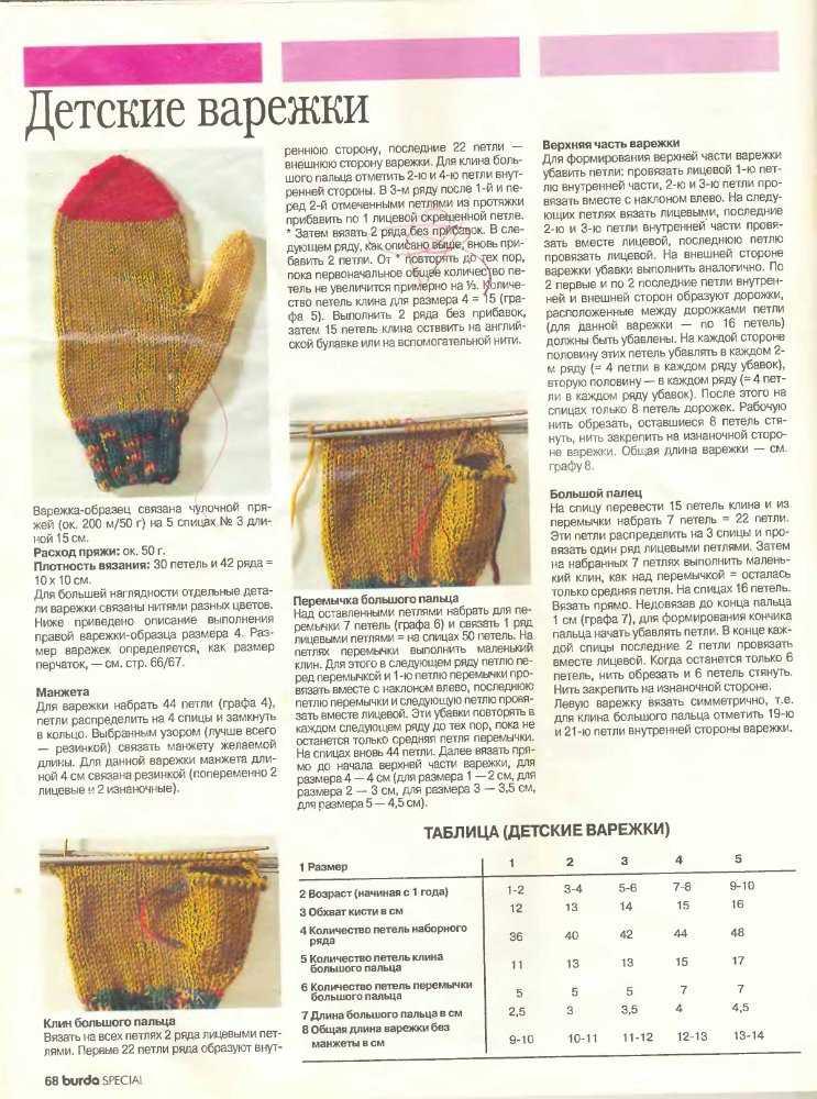 Способы вязания для детей