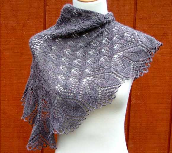 Схемы ажурных шалей с ракушками для вязания крючком - Pinterest 71