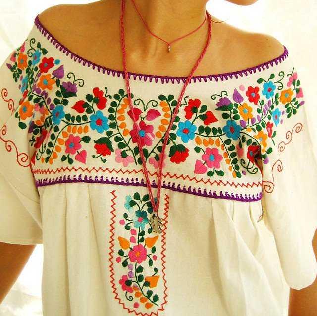 Примеры одежды с вышивкой