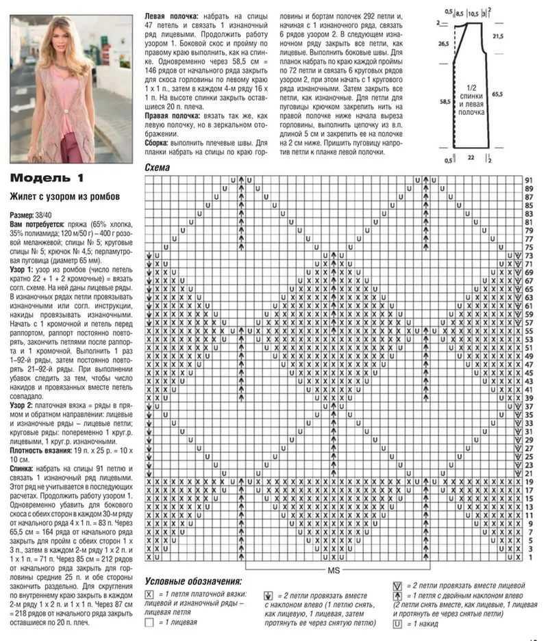 Модное вязание спицами с описаниями и схемами 114