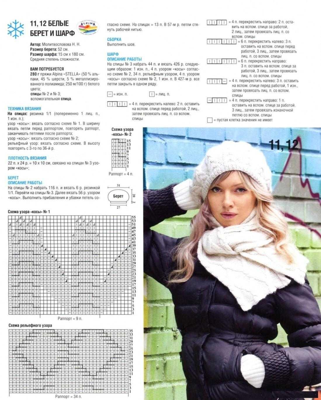 Вязание шапок спицами для женщин модные модели 2016 года с описанием схема