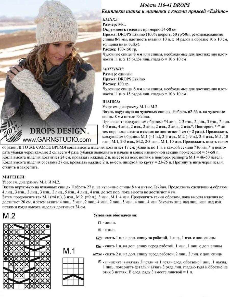 Вязание на спицах для женщин схемы шапки