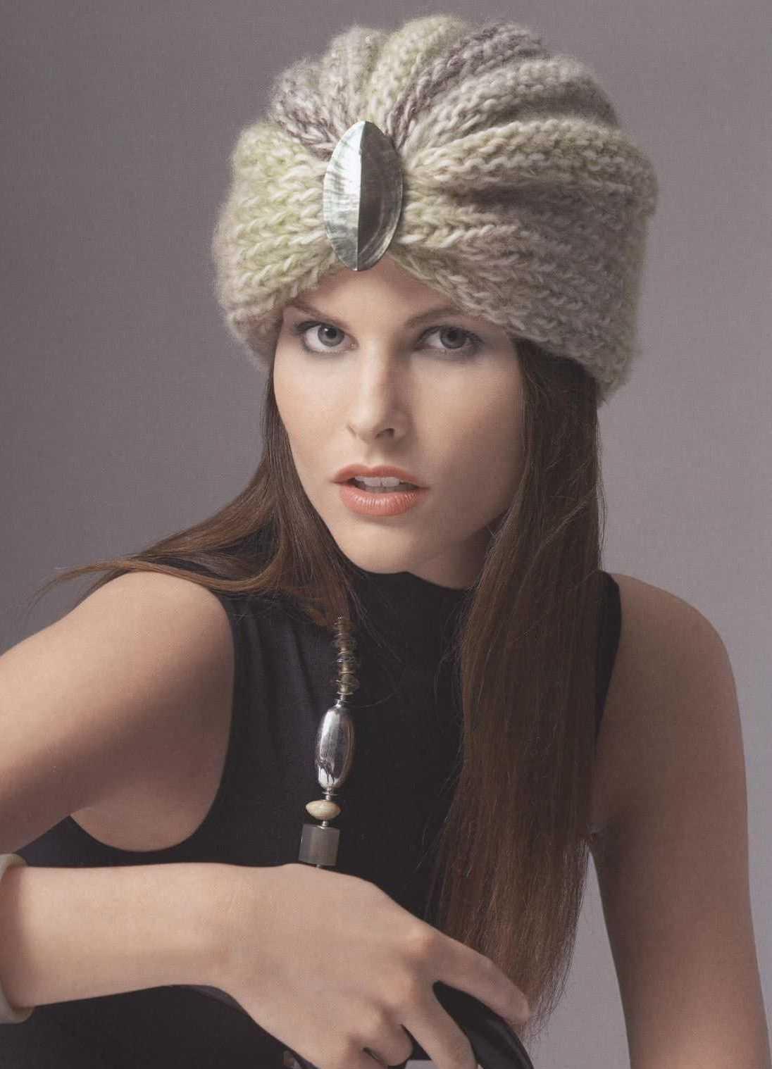 особенности вязания плюшевой пряжи спицами шапку