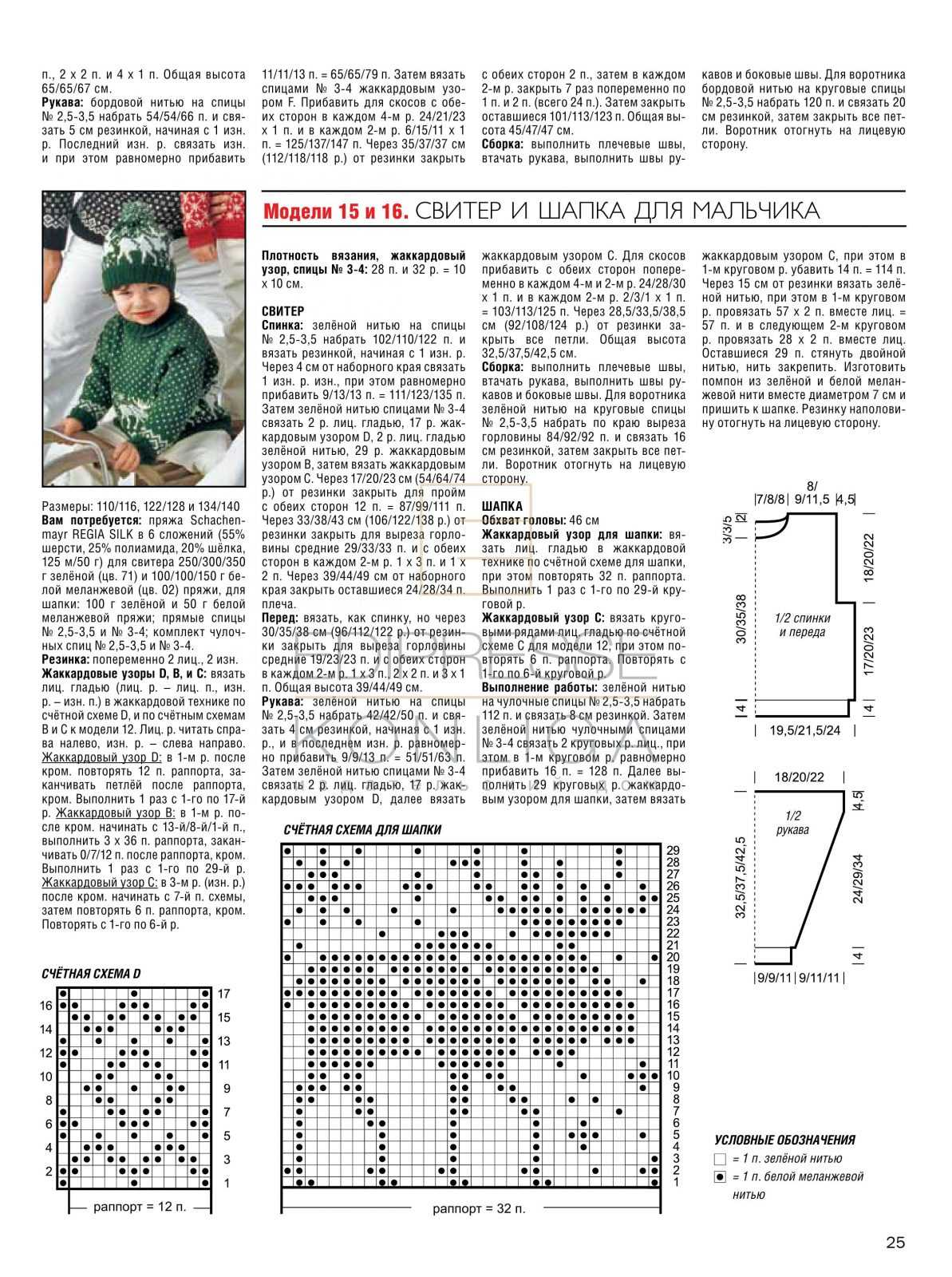 Детский свитер норвежским узором спицами схемы с описаниями
