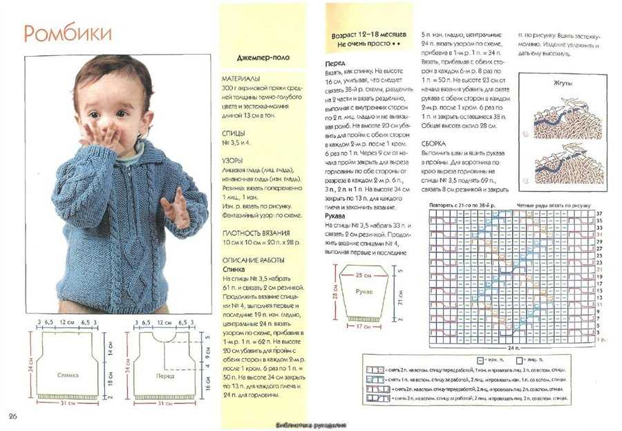 Вязание для малышей со схемами на спицах 872