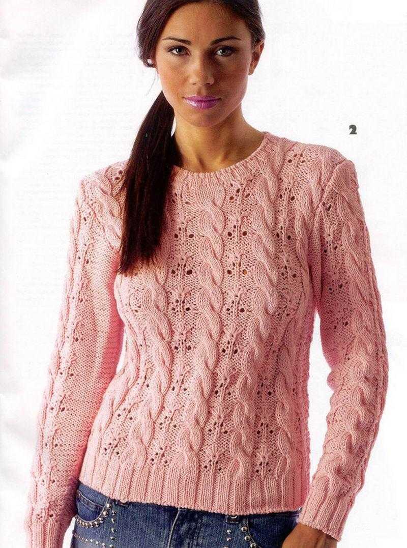 Свитер спицами женский: вязание по схеме с описанием