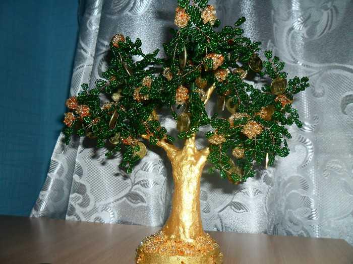 Дерево с золотым стволом