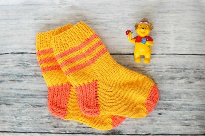 Вязание детям носочки 7