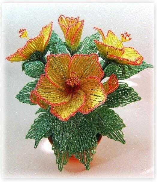 Цветы из бисера мастер класс с пошаговым фото хризантема