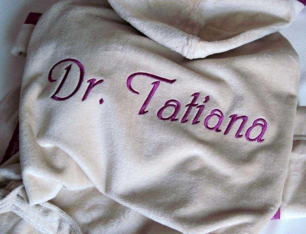 Сделать вышивку на халате своими руками