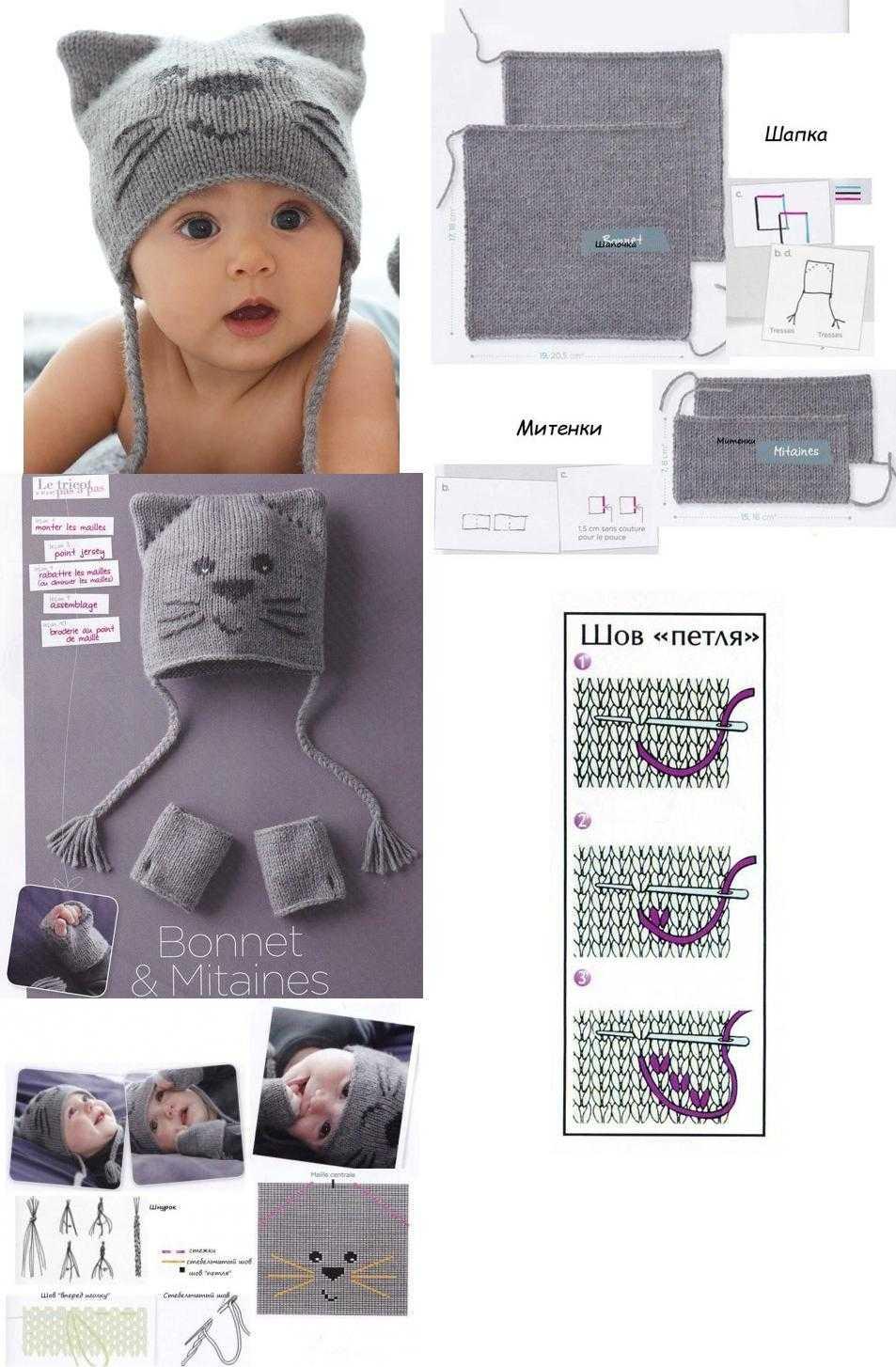 Шапочка для новорожденного 47