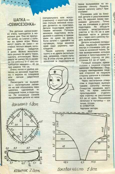 Как сшить шапку ушанку своими руками и выкройки
