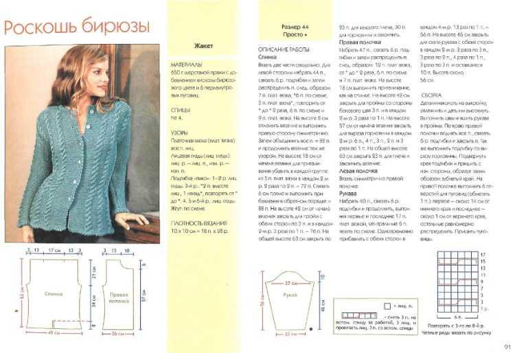 Интересные модели для вязания спицами с описанием 6