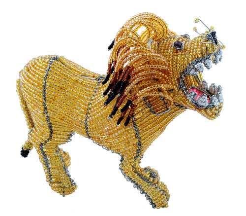 Лев из бисера