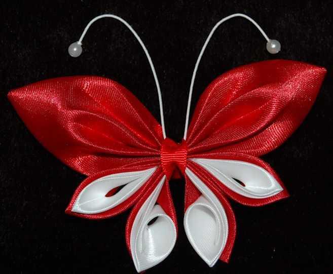 Бабочки мастер класс канзаши фото