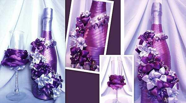 Мастер класс украсить бутылку шампанского на свадьбу своими руками