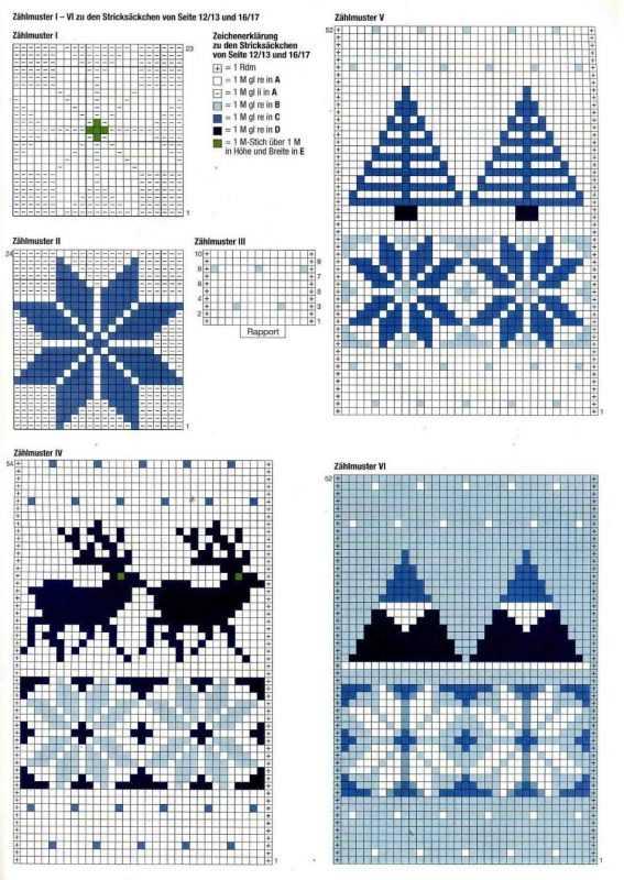 Зимний орнамент вязание спицами схемы