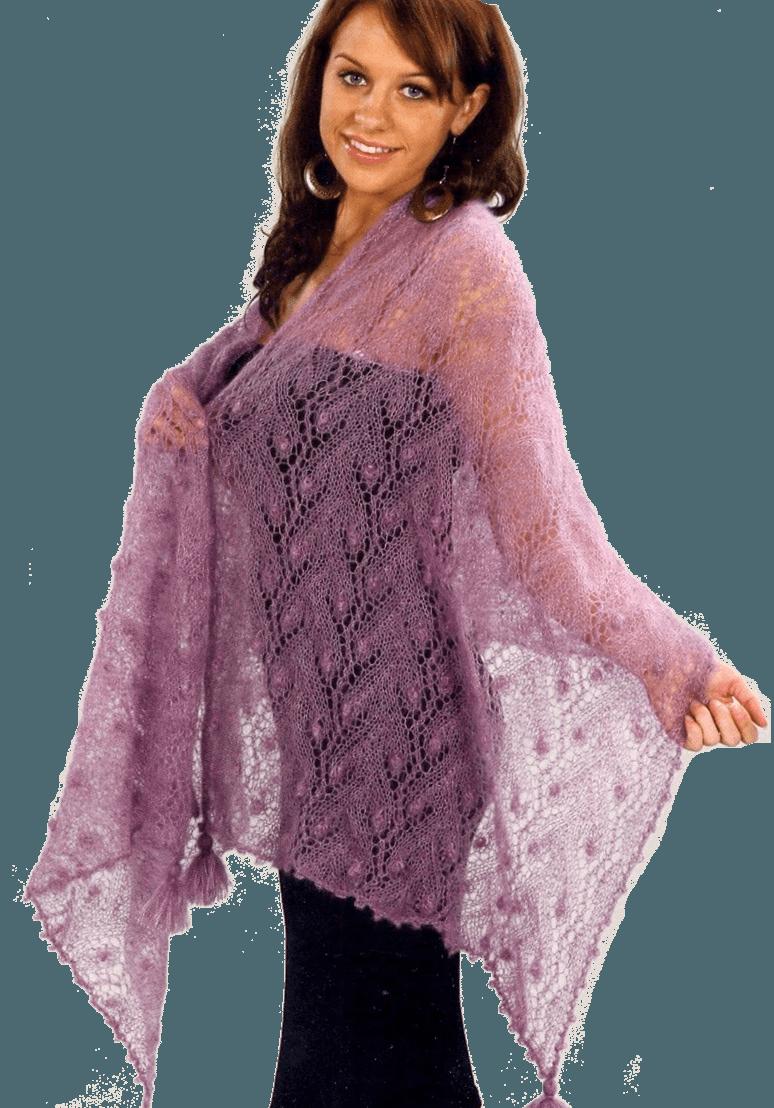 Вязание на спицах шарфа из мохера спицами