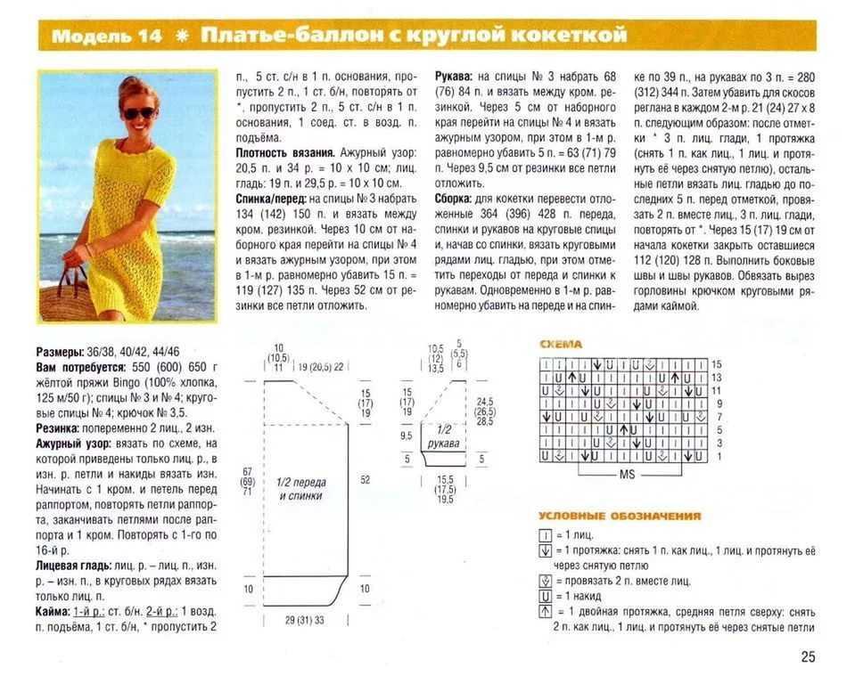 Схема и описание вязание кофты с круглой кокеткой с рукавами спицами