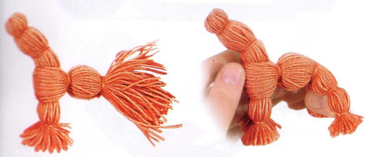 Игрушка из ниток мулине
