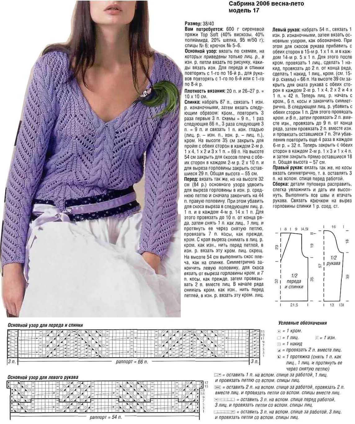 Вязание спицами модели полувер 183