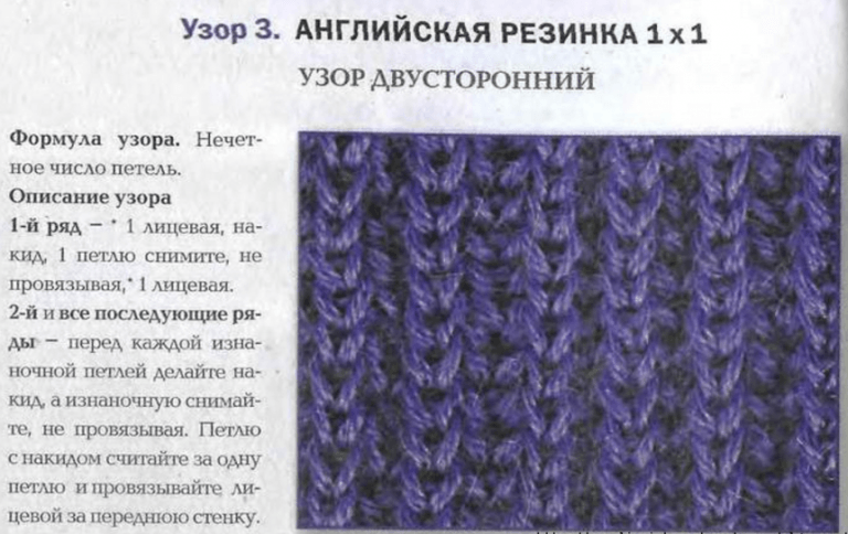 Вязание резинкой спицами пошагово 83