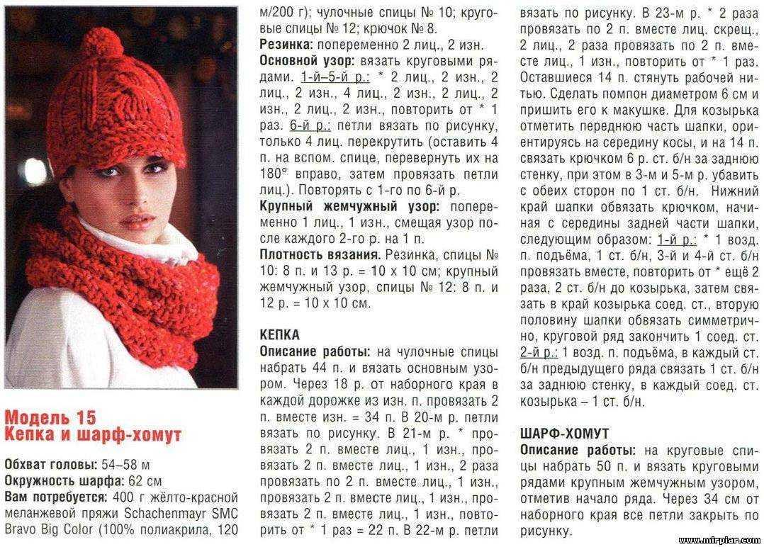Как связать шапки и шарфы