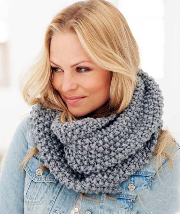 Вязание шарфов снудов схемы с описанием