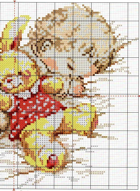 Вышивка крестом схемы ребенка или детей 989