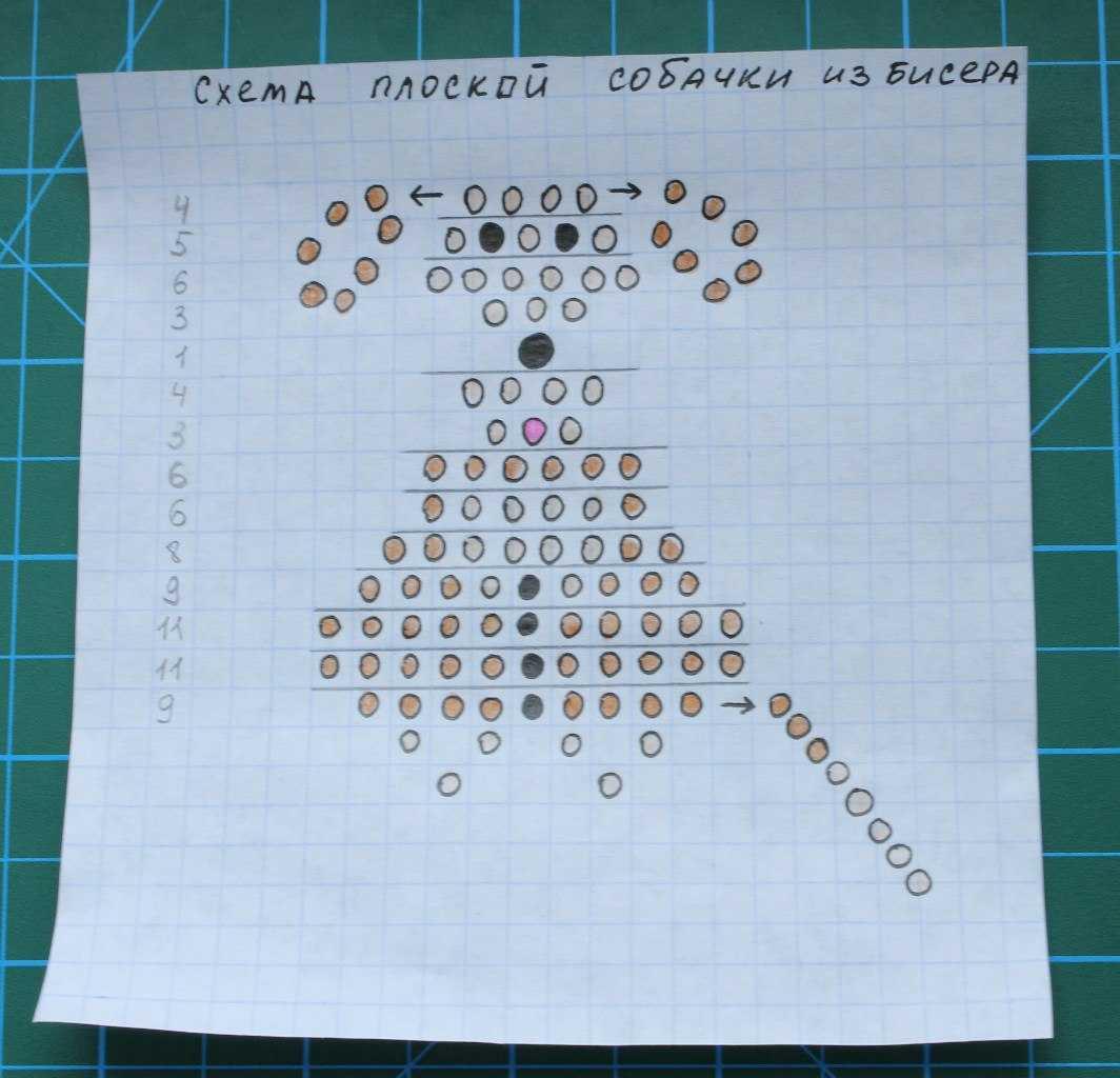 поделки из бисера кольца со схемами