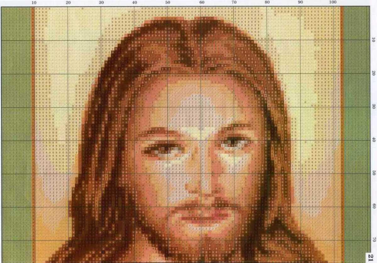 Вышивка иконы иисуса схемы