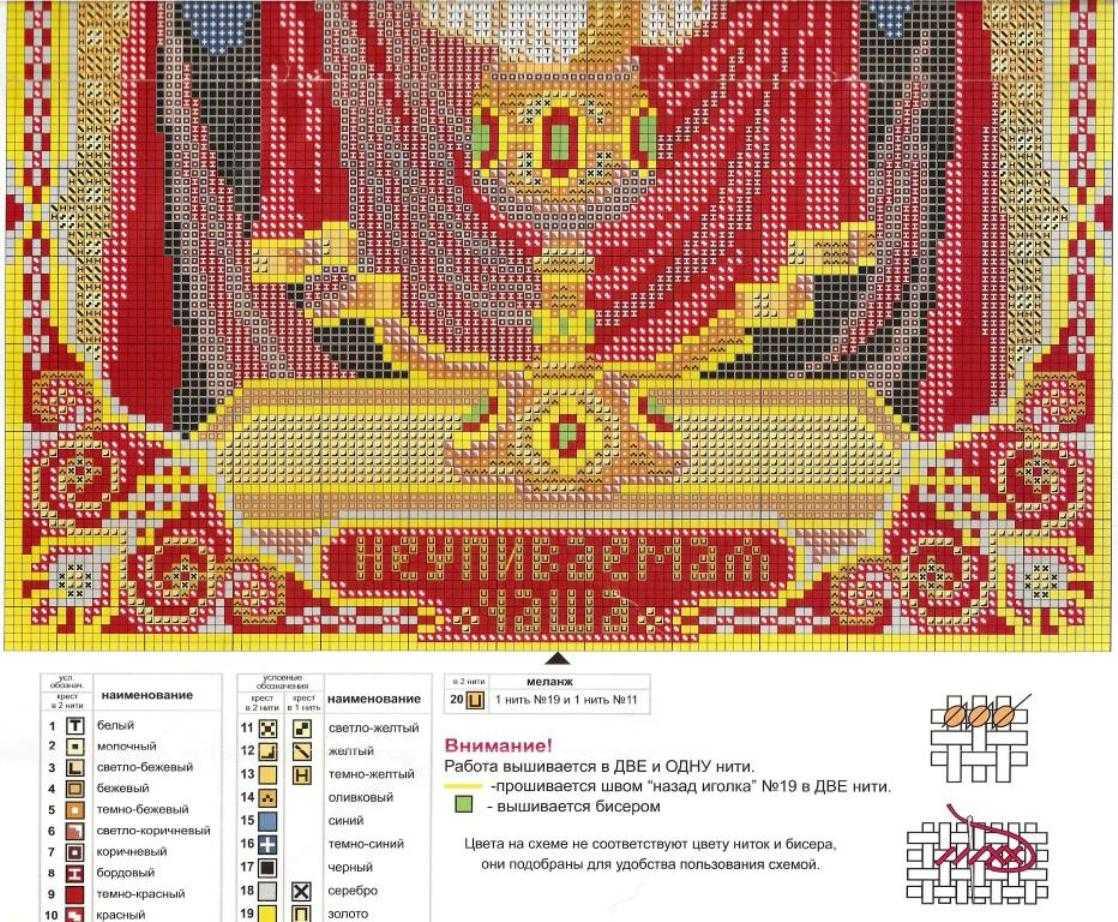 Схемы вышивки иконы