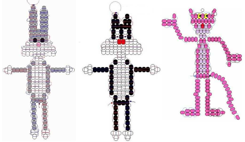 плетение из бисера для начинающих со схемами крокодил видо