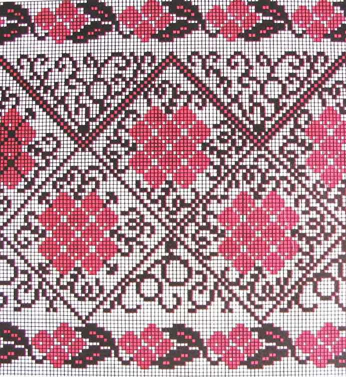 Схема орнамента для рушника