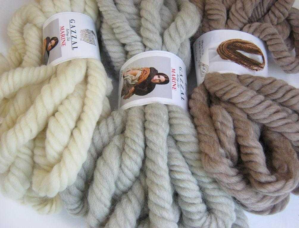 Очень толстая нитка для вязания