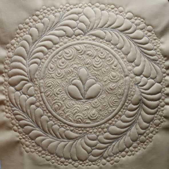 Трапунто при вышивке лентами