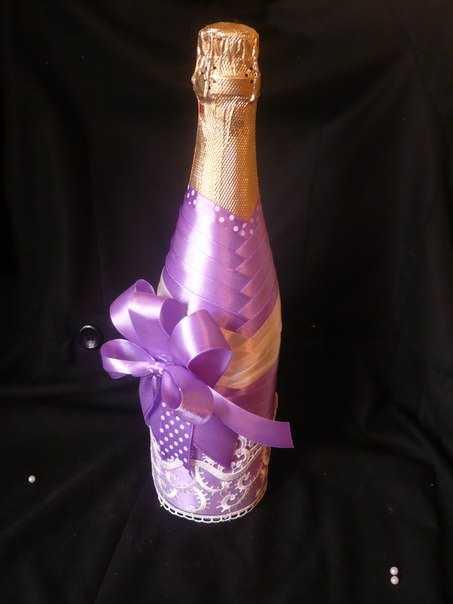 Украсить шампанское на день рождения своими руками 64