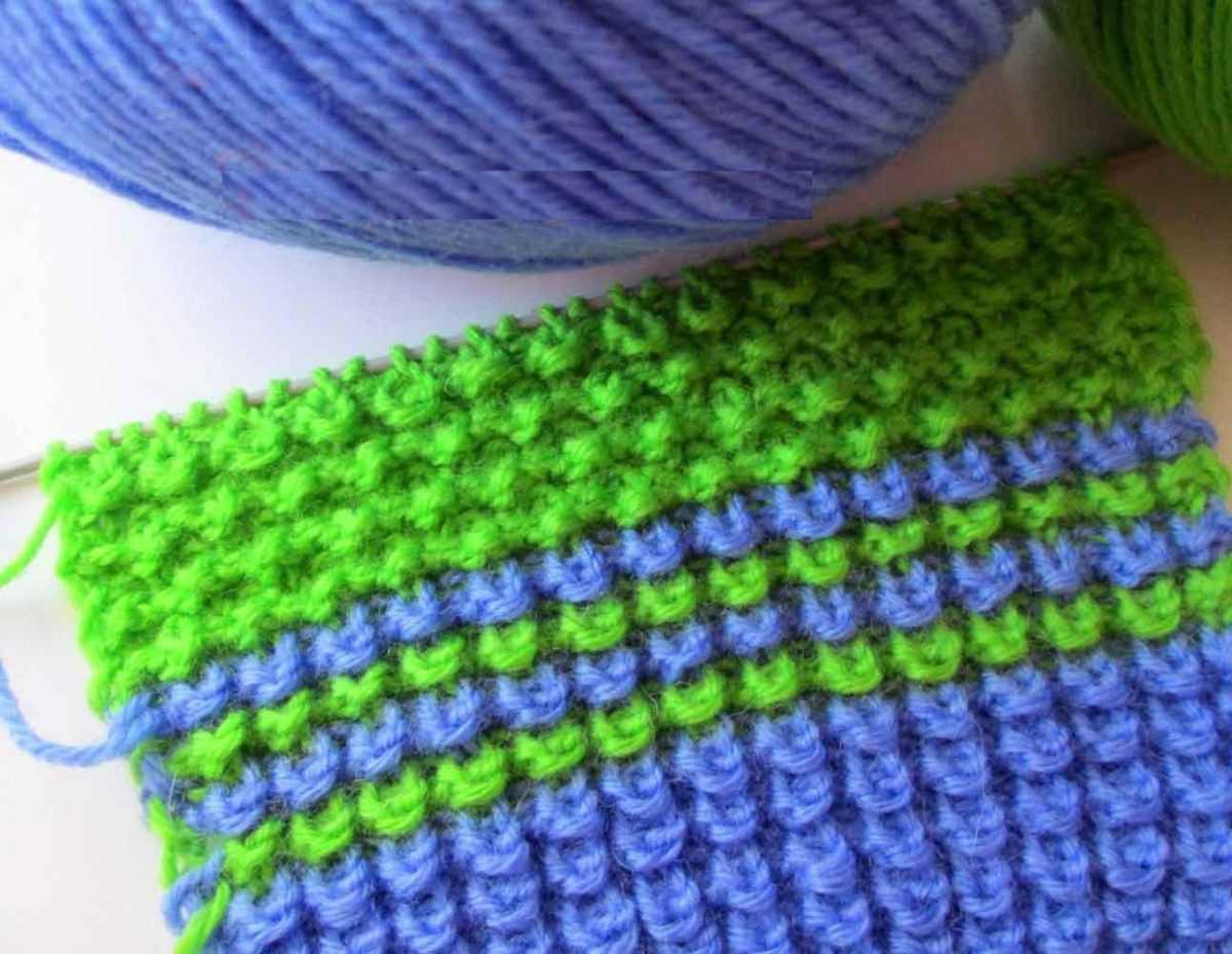 Вязание на спицах #2 - Узор Узелки, Ежик или Кукурузка 70