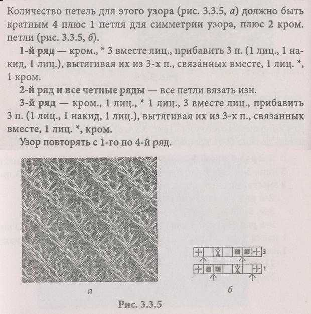 Вязания на спицах узор звёздочки с описанием