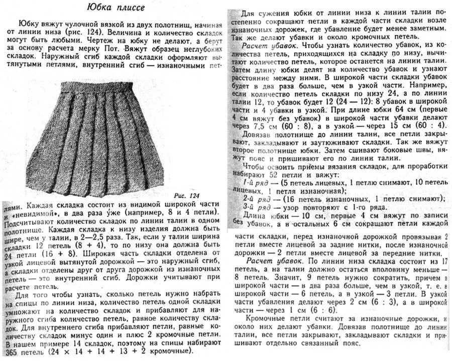 Вязание на спицах юбки и платья схемы и модели