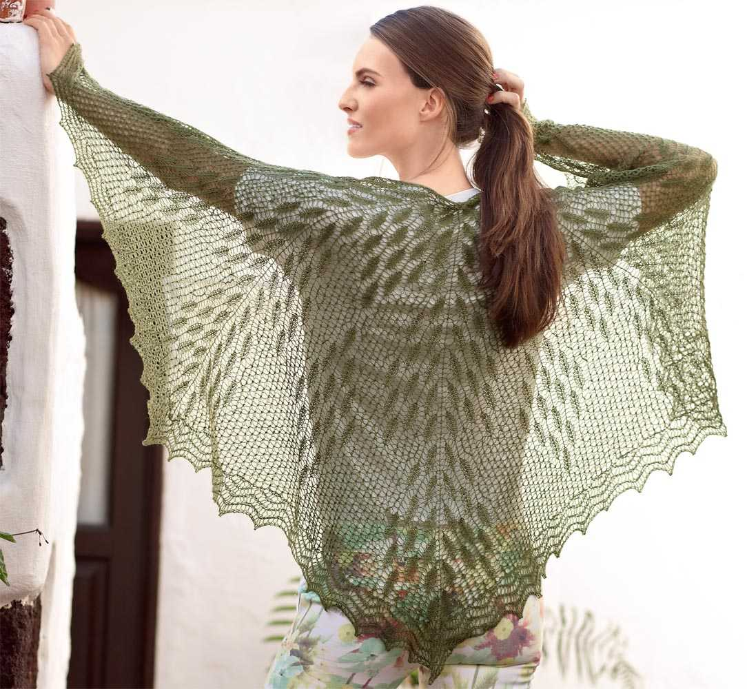 вязание ажурной косынки схемы