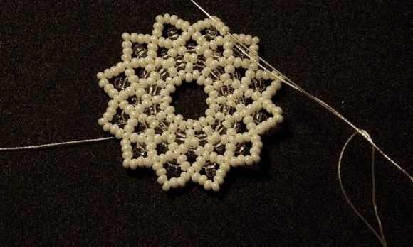 Схема плетения воротника из бисера и бусин своими руками