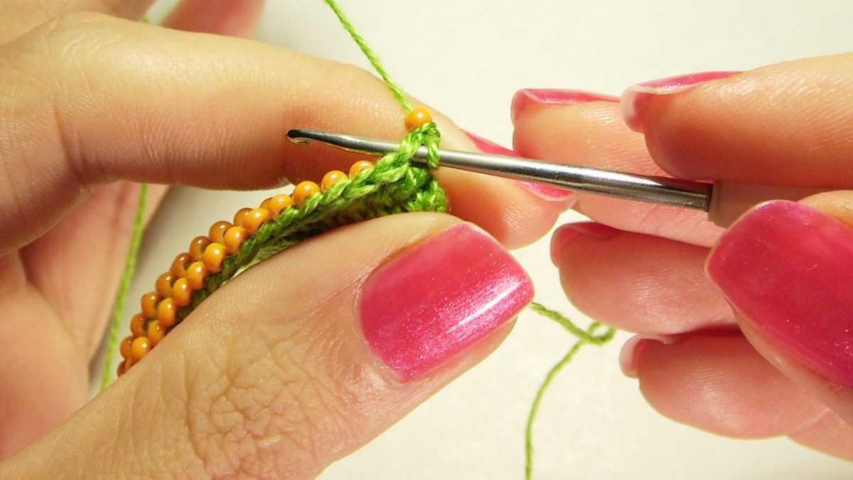 Вязание с бисером пошаговое фото