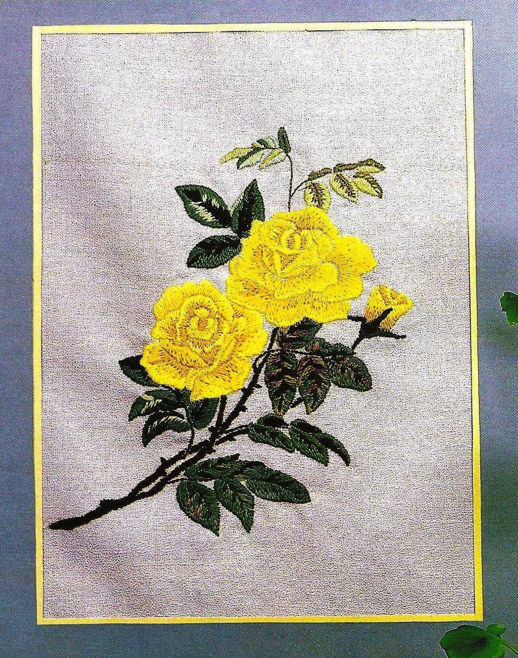 Схемы вышивки одним цветами