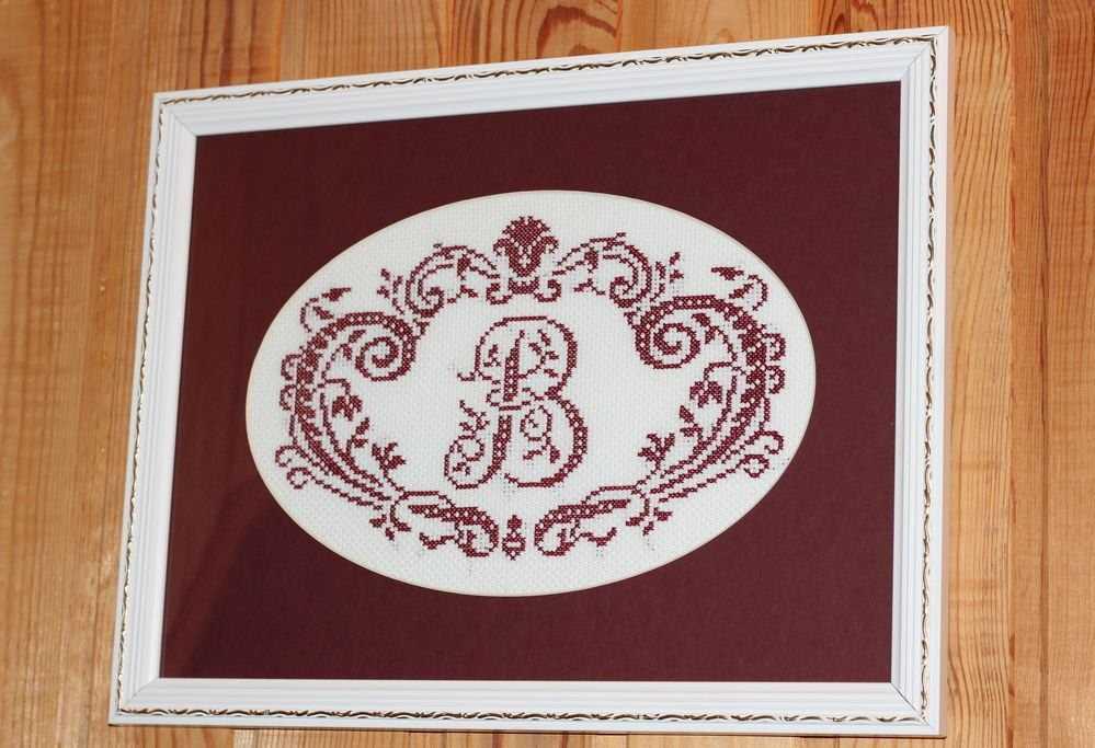 Схемы вышивки буквы русского алфавита