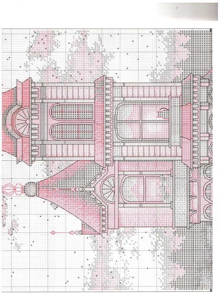 Викторианский шарм вышивка схема 2